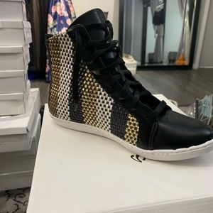 Sergio Zelcer Shoes - High top metallic looking sneakers